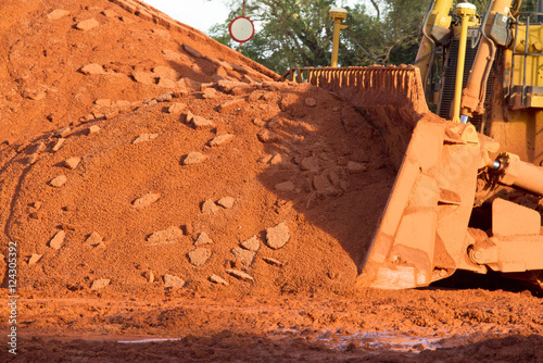 Bauxite mining in Weipa, Queensland, Australia Bauxite is an aluminium ore and is the main source of aluminium Wallpaper Mural