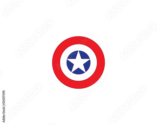 shield logo template Canvas Print