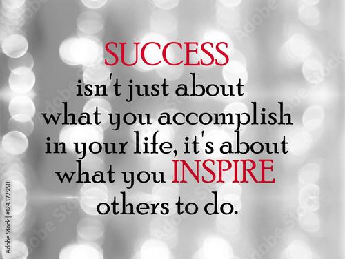 Fotografie, Obraz  Inspirational Motivational Life Quote on Blur Background Design.