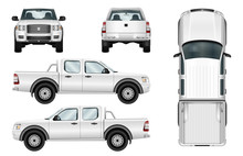 Pickup Truck Vector Template I...