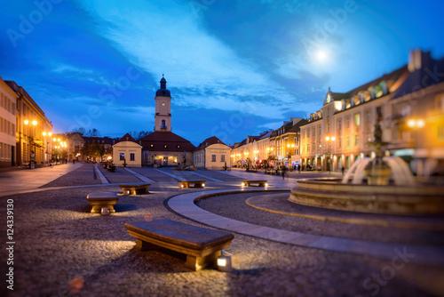 Bialystok at night, Białystok