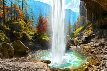 Obraz na Szkle Herbst in Slowenien, Wasserfall