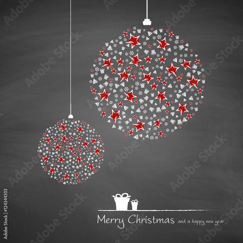 Christbaumkugeln Modern.Christbaumkugeln Mit Sternen Und Geschenken Modern Merry