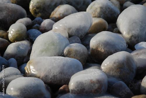 Ice covered stones #124344374