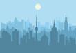 City skyline at day