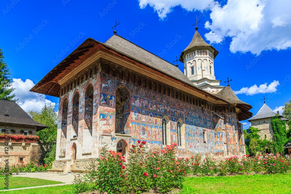 Fototapety, obrazy: The Moldovita Monastery, Romania.