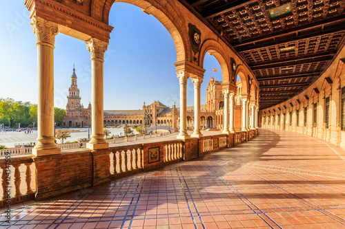 Photo Seville, Spain. Spanish Square (Plaza de Espana)