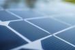 Leinwandbild Motiv close up solar cell panel