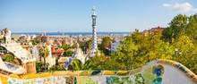 Park Guell By Architect Antoni Gaudi, Barcelona, Spain