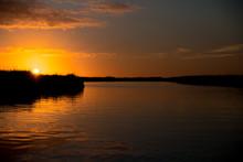 Marsh At Sundown
