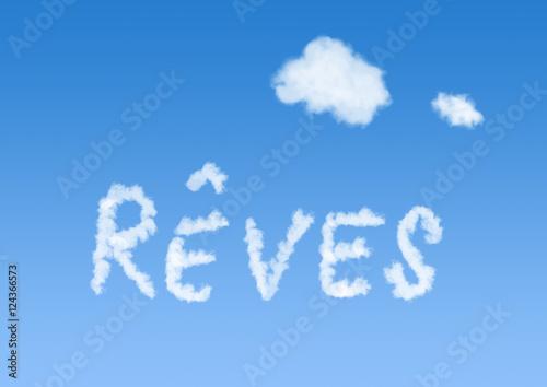 Staande foto Kids nuage ciel rêve bleu idéal penser