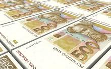 Croatian Kuna Bills Stacks Bac...