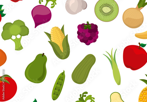 fruit and vegetable icon pattern buy this stock template and