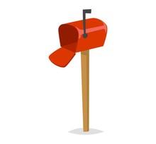 Post Mailbox Vector Illustration