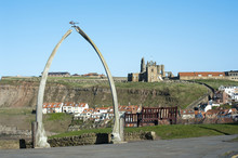 Whalebone Monument In Whitby
