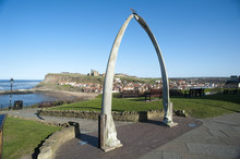 Whale Bone Monument In Whitby