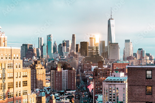 Fototapeta Elevated view of Manhattan, New York City