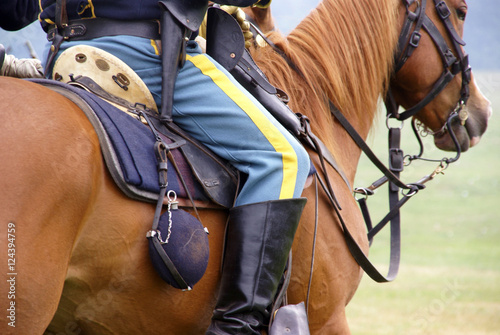 Fotografia, Obraz Detail, Union cavalry sergeant on his horse