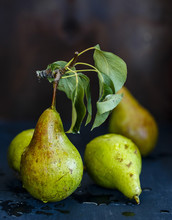 Pears In A Rustic Background