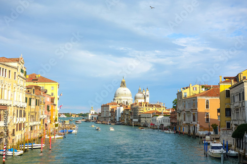 Fototapety, obrazy: Beautiful view of water street and old buildings in Venice, ITAL