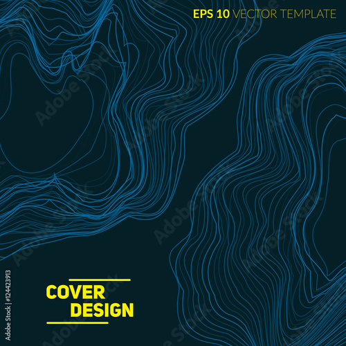 Photo  Abstract background with liquid lines