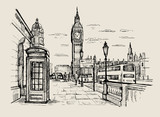 Fototapeta Londyn - vector hand-drawn London