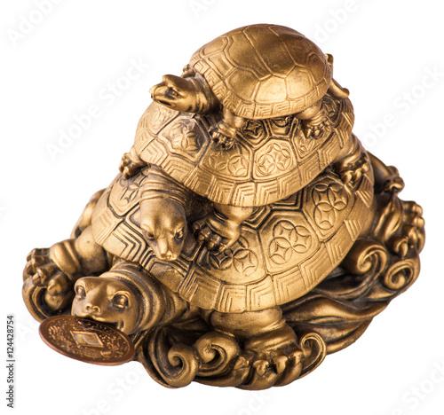 Fotografía  Gold feng-shui turtles