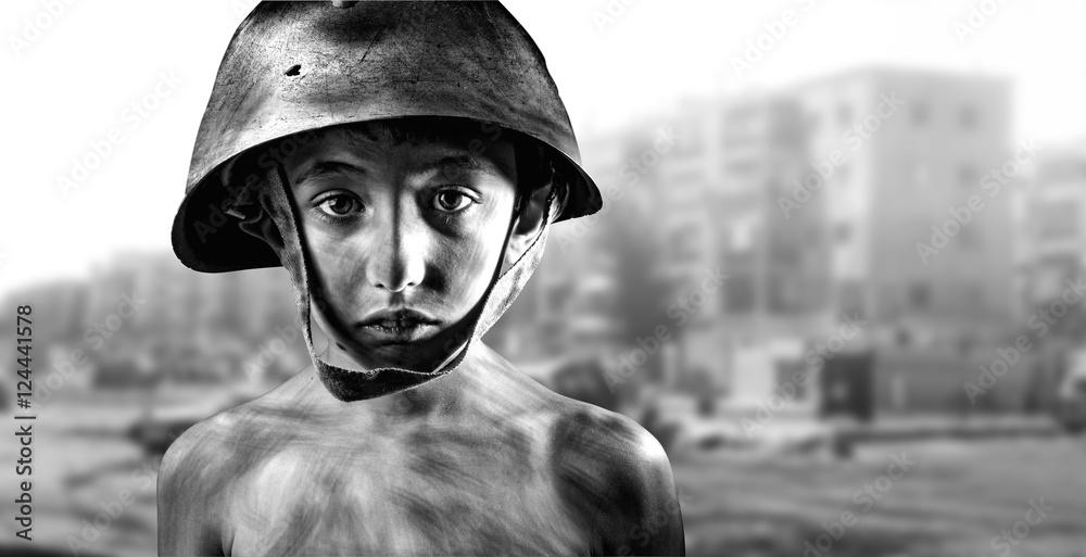 Fototapeta Bambino in guerra