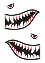 Shark Teeth Decals