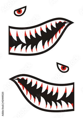 Shark teeth decals Canvas Print