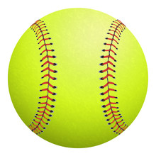 Softball Isolated On White. Vector Illustration.
