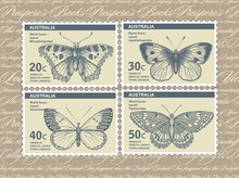 Postage Stamps Depicting Butte...