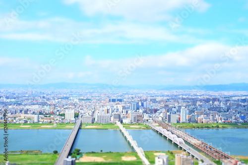 都市風景 大阪 日本
