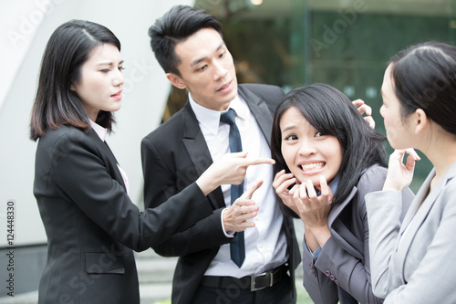 Fototapety, obrazy: business people bullying