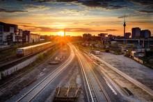 East Berlin Sunset