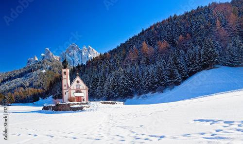 Foto-Leinwand ohne Rahmen - Winterlandschaft in Südtirol, Italien (von santosha57)