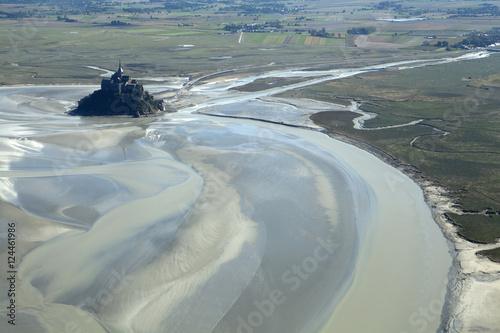 Fotografie, Obraz  Iles chaussey + baie du Mont st michel
