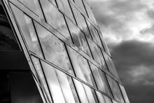Moderne Glasfront Eines Gebäu...