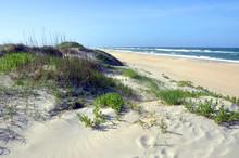 Sand Dune In Cape Hatteras National Seashore, On Hatteras Island, North Carolina, USA