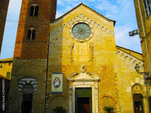 View of Albenga Cathedral - Albenga, Savona, Liguria, Italy Wallpaper Mural