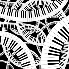 Curved Piano Keyboard Vector I...