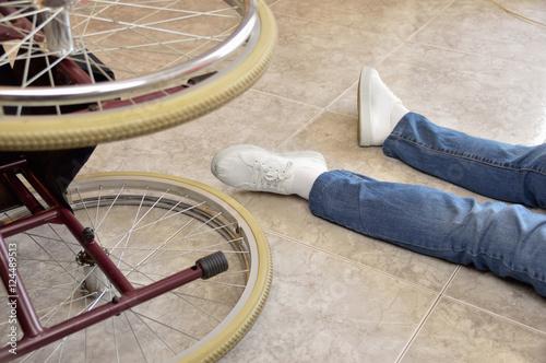 Fotografia, Obraz  I had an accident with wheelchair