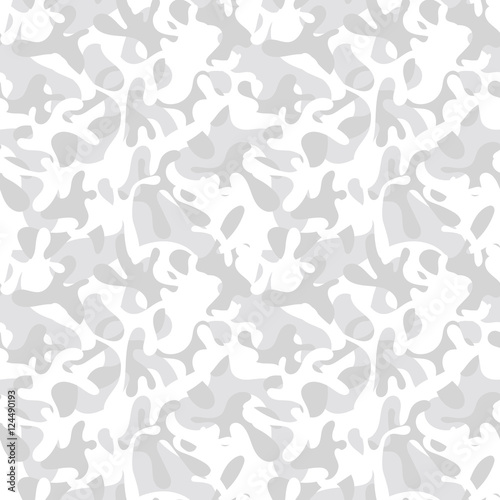 d3809b2d Seamless white & gray snow camouflage pattern. Arctic military & hunting  clothing textile design. Tundra camo truck wrap & cover print.