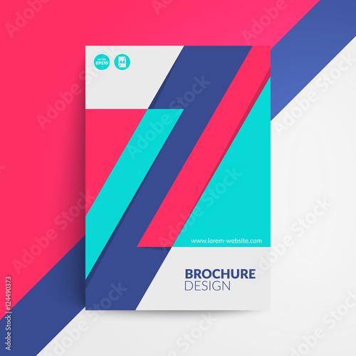Fotografiet  Geometric cover design