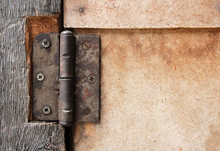 Old Rusty Door Hinge