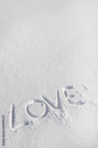 Message Damour En Anglais Dans La Neige Dans La Montagne