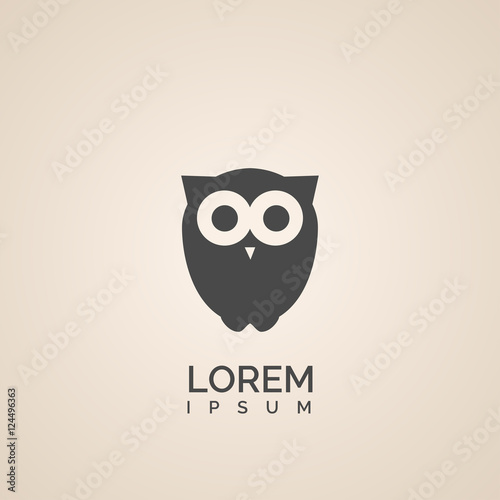 In de dag Uilen cartoon owl icon design