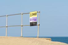 Danger Keep Off Rocks Sign At ...