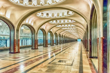 Mayakovskaya Subway Station In...