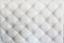 Quilted Leather Sofa Covering Closeup